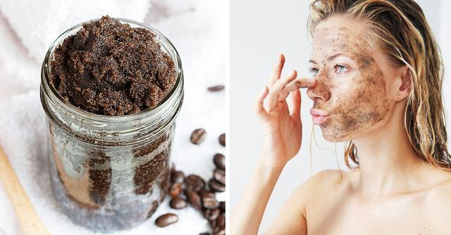 coffee as skin exfoliator,grounded coffee as scrub,coffee for skin,face mask for glowing skin,DIY mask,coffee and honey mask