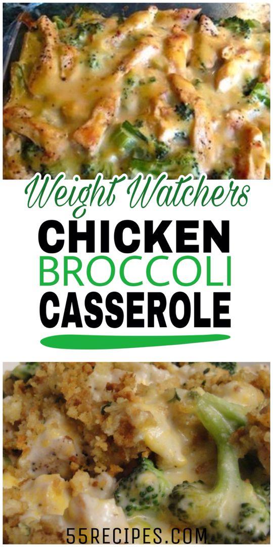 Skinny Chicken Broccoli Casserole  Easy Healthy Dinner-2593