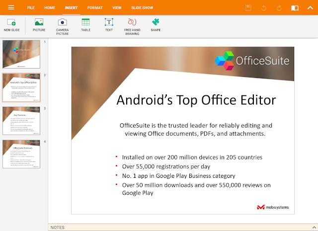 Tampilan Aplikasi OfficeSuite Pro + PDF Android