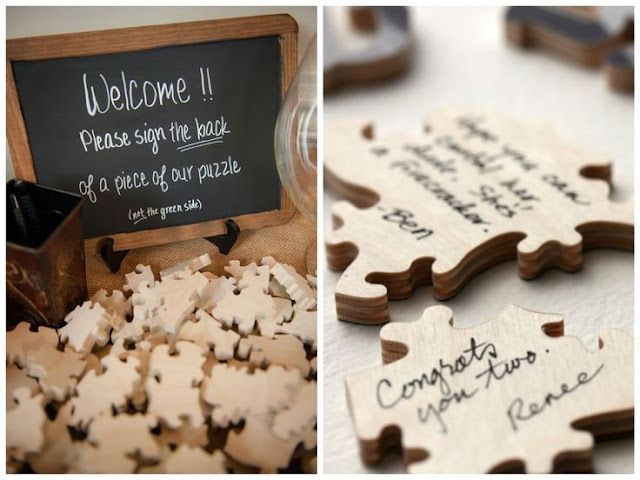 Puzzle como libro de firmas para tu boda - Foto: www.sweetbodas.blogspot.de