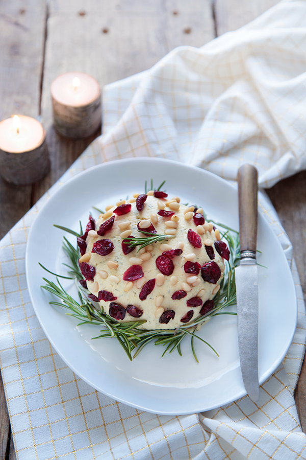 Fromage frais de Noël : cranberries et aneth