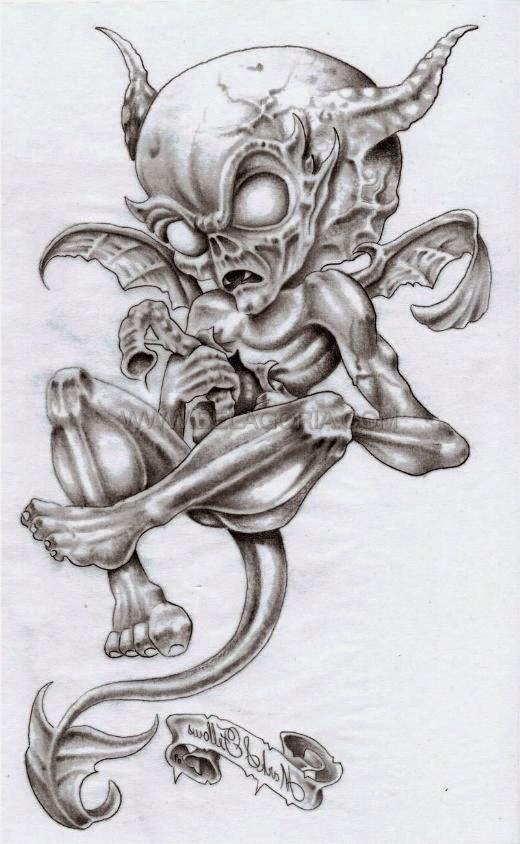 Dise os de demonios y diablos belagoria la web de los - Tattoo disenos a color ...
