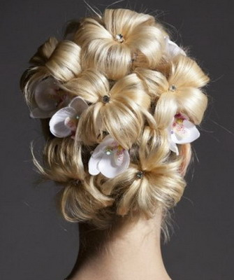 Цветок из хвоста волос фото