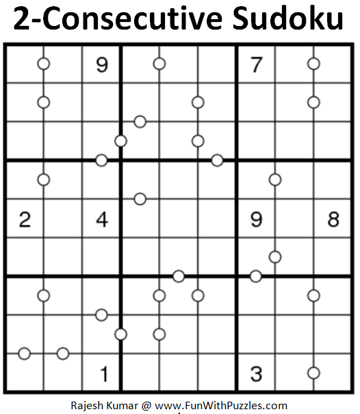 2-Consecutive Sudoku Puzzle (Daily Sudoku League #193)