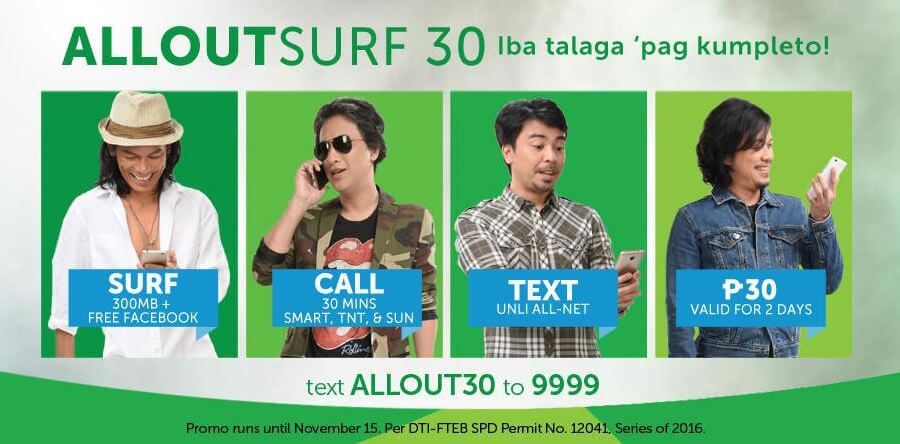 Smart ALLOUTSURF 30 Promo – Free FB, Unli All Net texts, Surf and Call