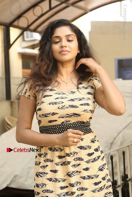 Telugu Actress Karunya Chowdary Stills in Short Dress at ATM Not Working Press Meet  0002.jpg