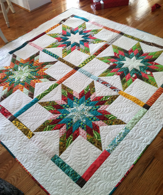 Jellied Lone Star Quilt Designed by Betsy Smith, The Tutorial by Terri Ann Swallow for Moda Bake Shop