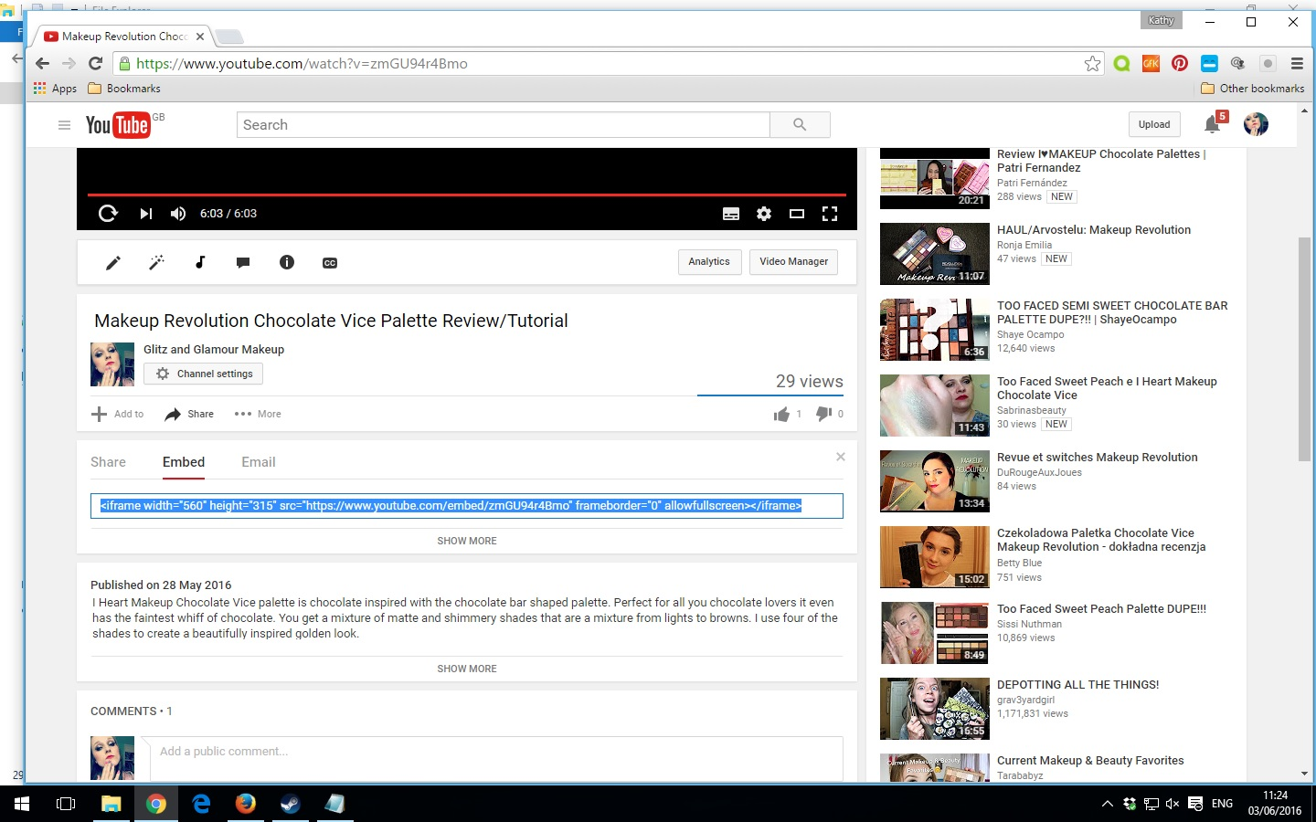 how to embed youtube videos into your blog post