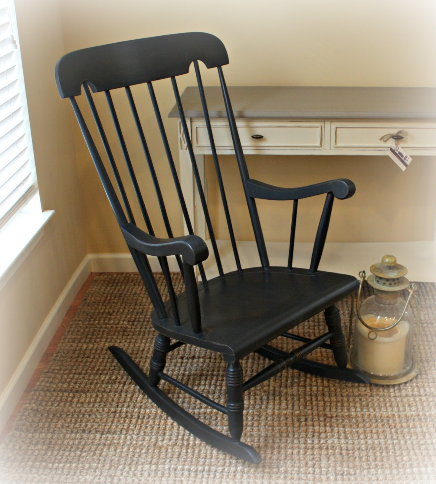 Retro Rocking Chair Slip Covered Chairs Vintage With Damaged Finish Gets A New Look
