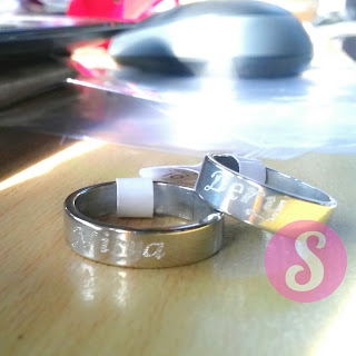 cincin couple nama titanium silver grafir - dery nisya