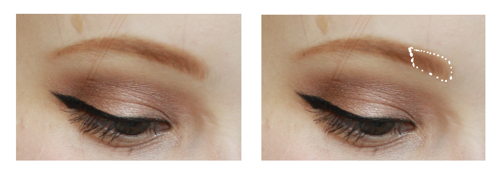 Hantastic Beauty: Tutorial: How to pretend you have eyebrows.