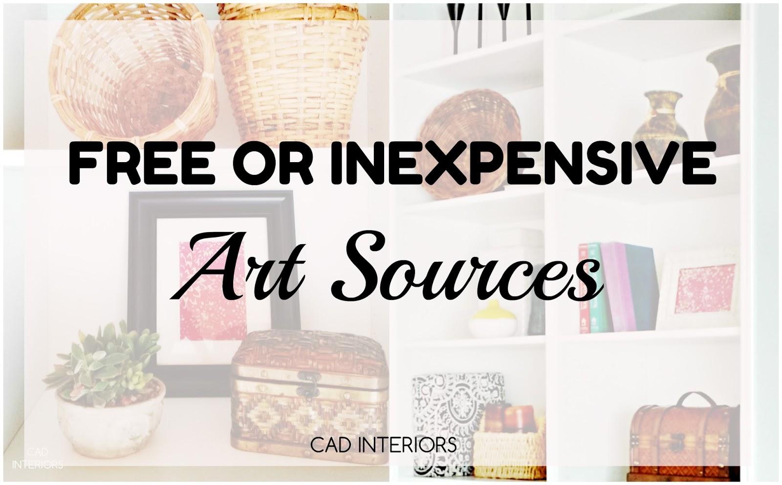 CAD INTERIORS design tips art budget design