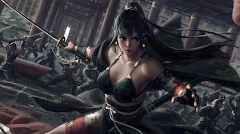Girl, Warrior, Fantasy, Battle, 4K, #4.3072
