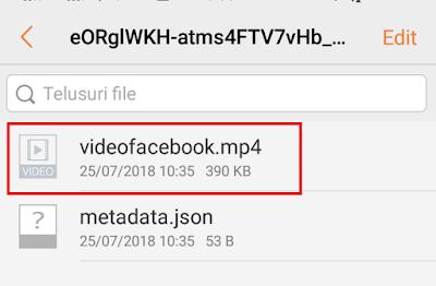 Cara Menyimpan Video Facebook Ke Galerry Tanpa Aplikasi