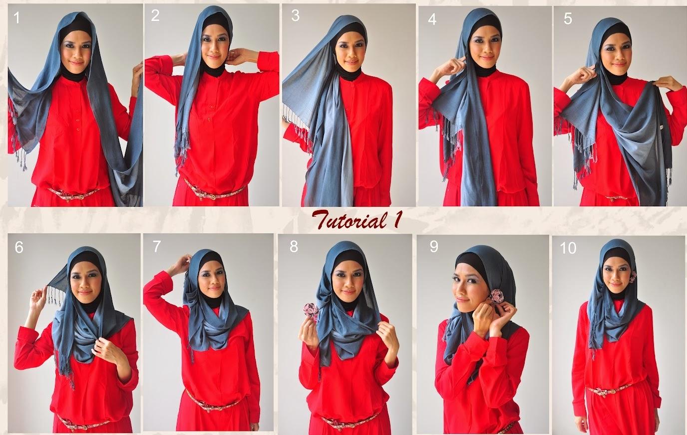 Cara Memakai Hijab Syari Cantik Qbayacom Inspirasi Wanita