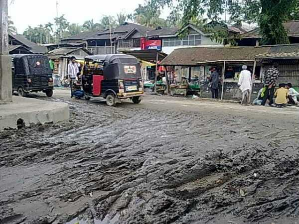 Condition of Lakhipur town (Cachar) during rainy season