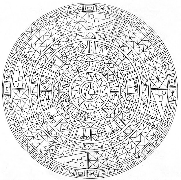 Printable Mandala  Abstract Colouring Pages For Meditation  Stress