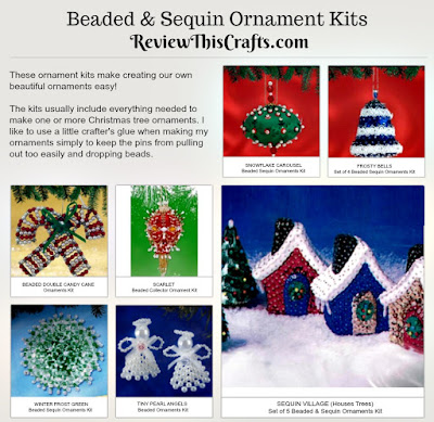 Bead & Sequin Ornament Kits Review