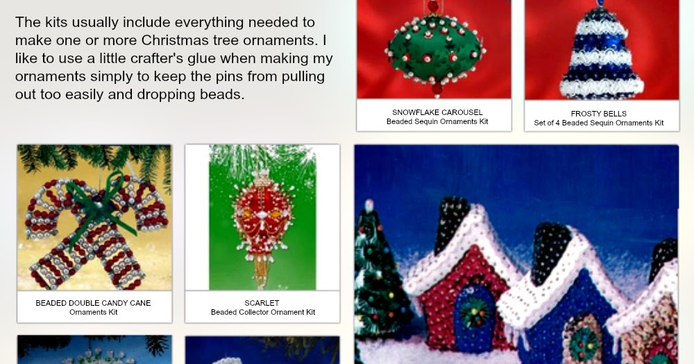 Bead Sequin Christmas Ornament Kits Review