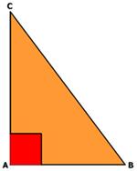 Segitiga siku-siku mempunyai dua sisi siku-siku yang mengapit sudut siku-siku dan satu sisi miring (hypotenusa)
