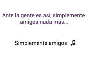 Ana Gabriel Simplemente Amigos significado de la canción.