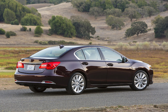 Rear 3/4 view of 2016 Acura RLX Sport Hybrid