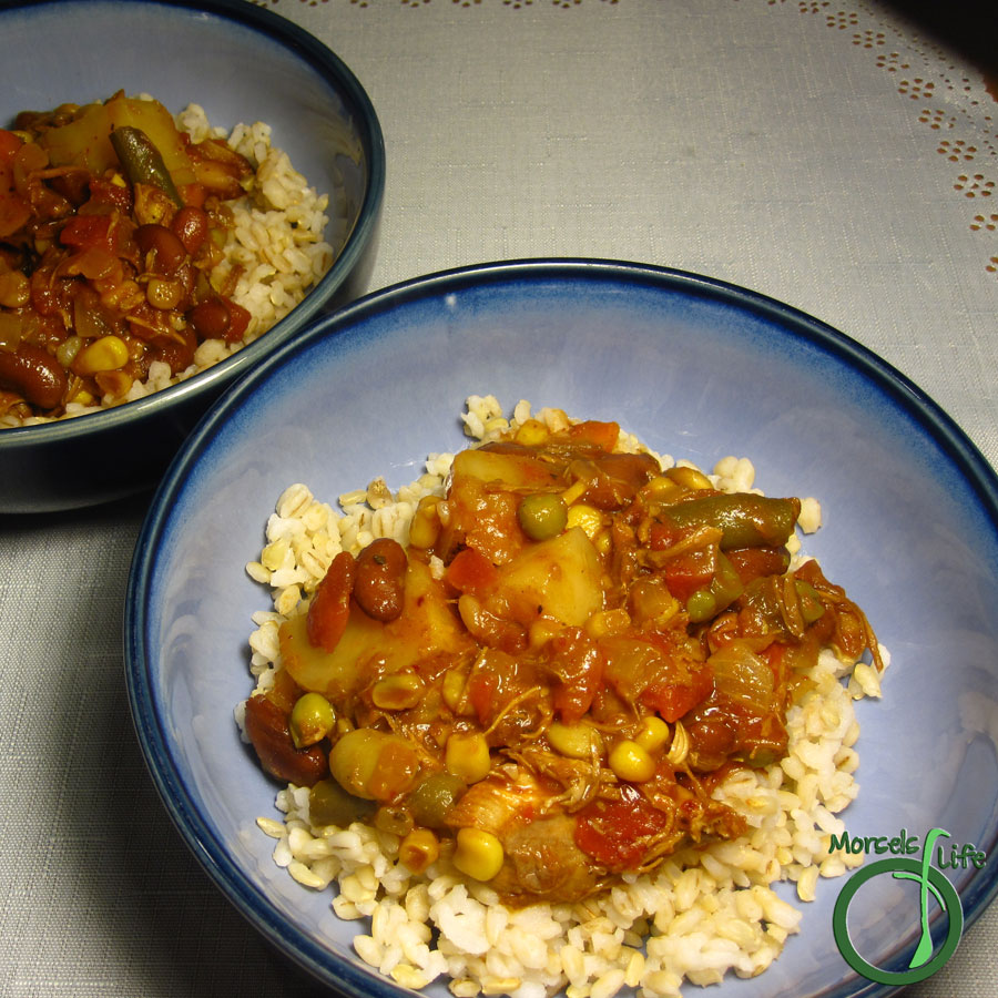 Morsels of Life - Brunswick Stew - Brunswick stew, a tomato based stew with vegetables and meat, is a traditional dish popular in the American South. It's also surrounded by controversy.