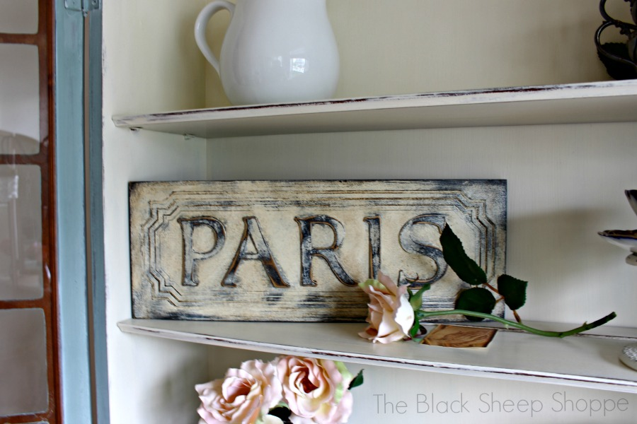 Hand painted Paris sign.