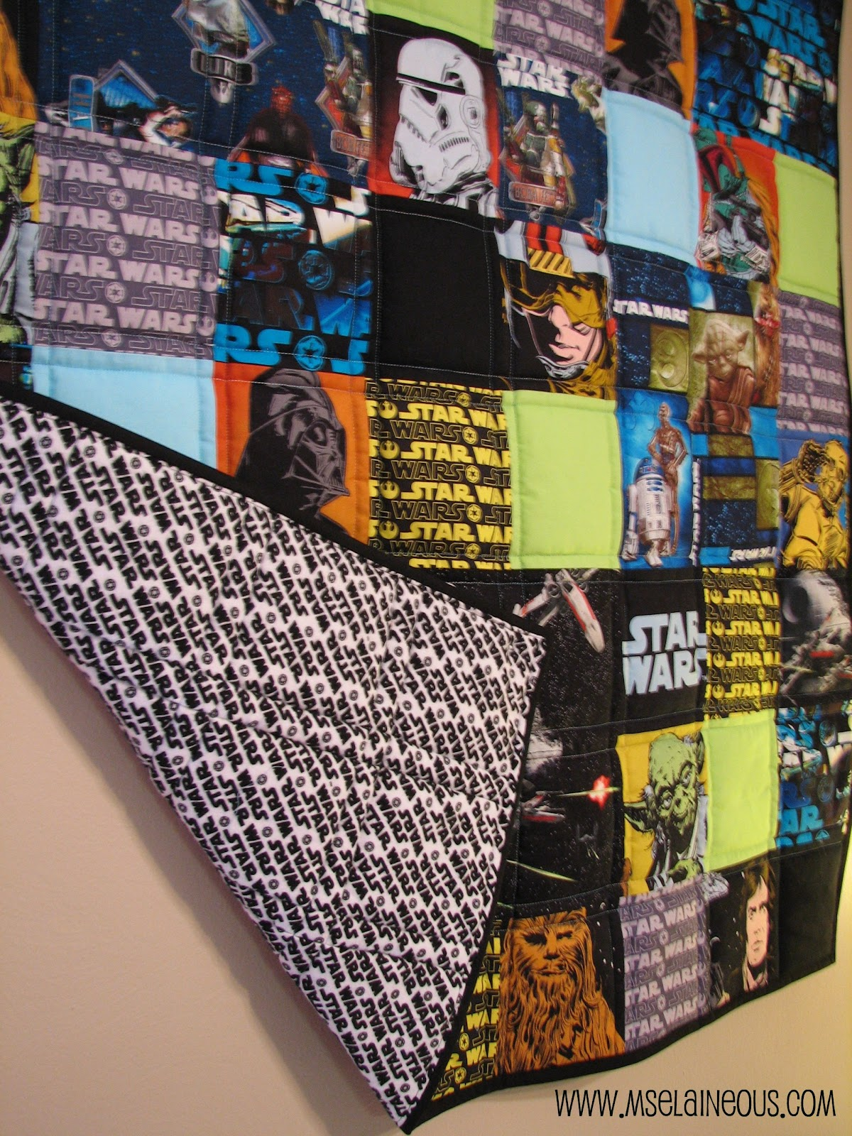 Ms Elaineous Teaches Sewing Star Wars Quilt