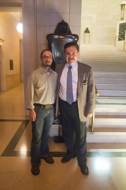 Travis Simpkins, 32° and Arturo de Hoyos, 33°. House of the Temple . Washington, D.C.