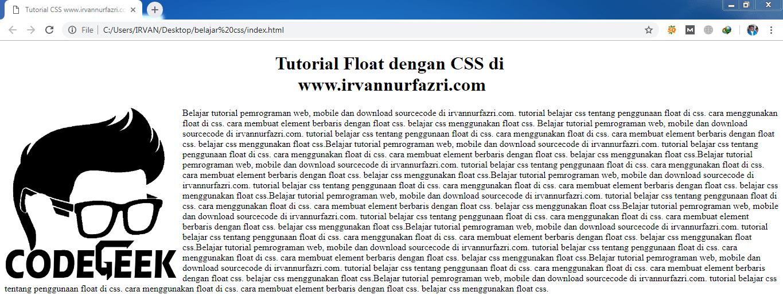 Float CSS - #irvangen
