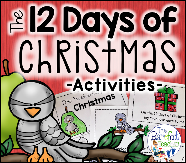 Celebrate the 12 Days of Christmas with a flip book and emergent reader for your Preschool, Kindergarten, or First grade kids! The duo pack is a perfect addition to the other activities, crafts, and lessons you have planned this holiday for your students.