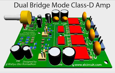 Subwoofer Power Amplifier Class-D Dual Bridge TPA3116D2