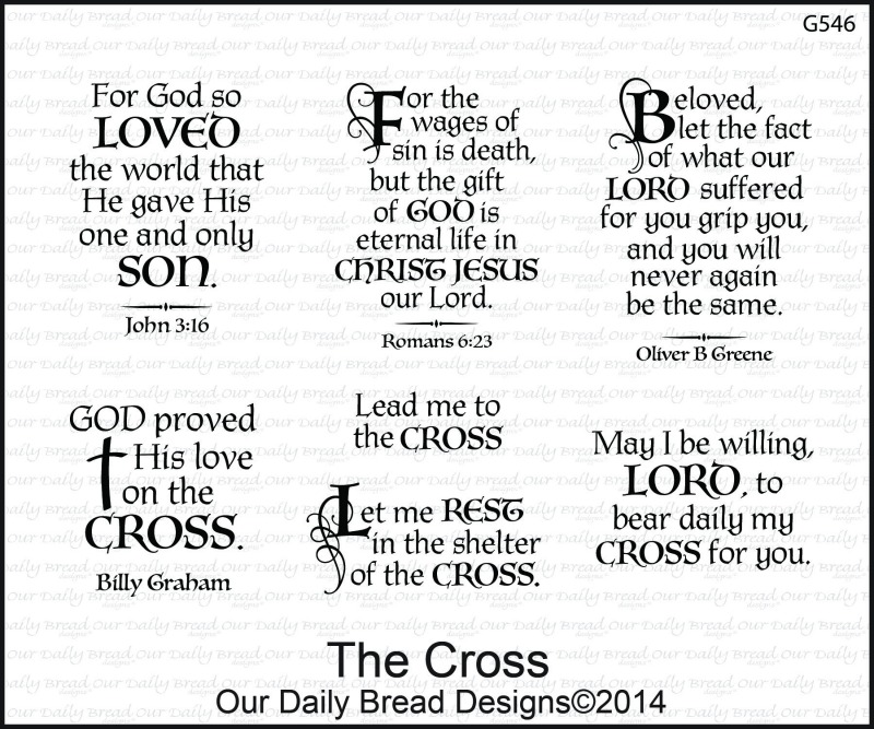Stamps - Our Daily Bread Designs The Cross