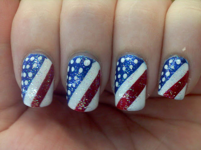 4th of July Nail Art Design 2017