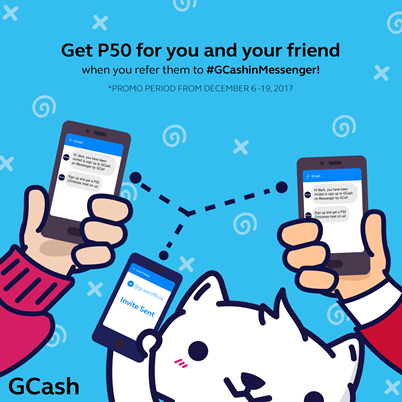 Refer and Earn with GCash in Messenger! ~ Rewards and Promotions in