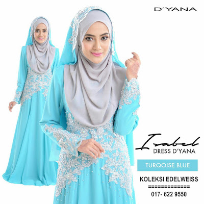 ISABEL 6 DRESS PENGANTIN NIKAH WARNA TURQOISE BLUE