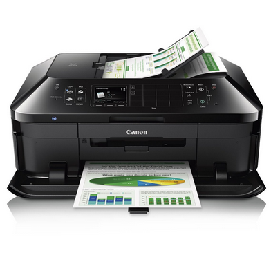 impressive occur character together with gives a bully bargain of wireless capacity to assist inwards your residen Canon PIXMA MX920 Driver Download