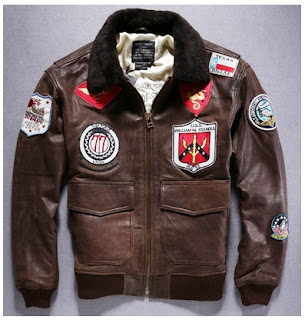Gambar jaket Kulit Pilot Full Patch