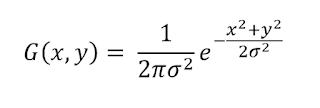 2-D Gaussian Function