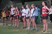 Top Eight runners in the girls' race