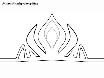 Corona reina de hielo - molde sencillos