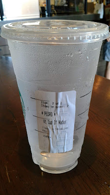 Starbucks Venti Cup of Water