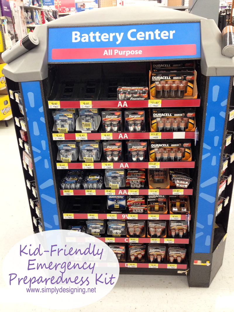 batteries+in+store+1 Kid-Friendly Emergency Preparedness Kit with Duracell { #PrepWithPower #Shop } 5