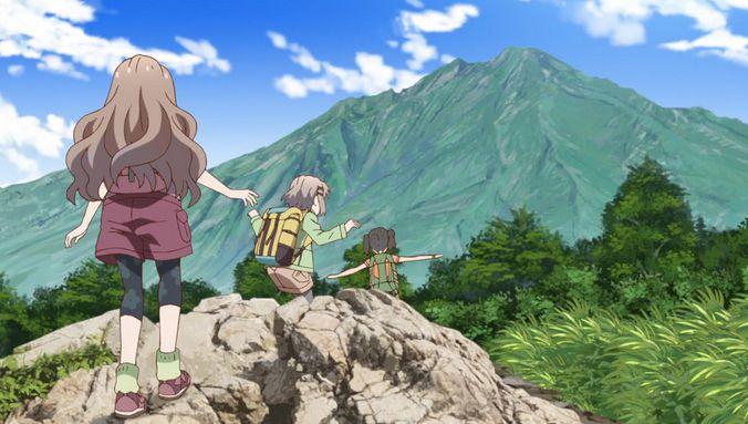 Animasi Gunung Meletus Kartun