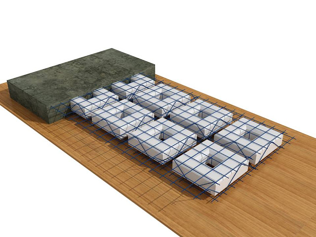 Hộp xốp lớn tạo rỗng sàn phẳng