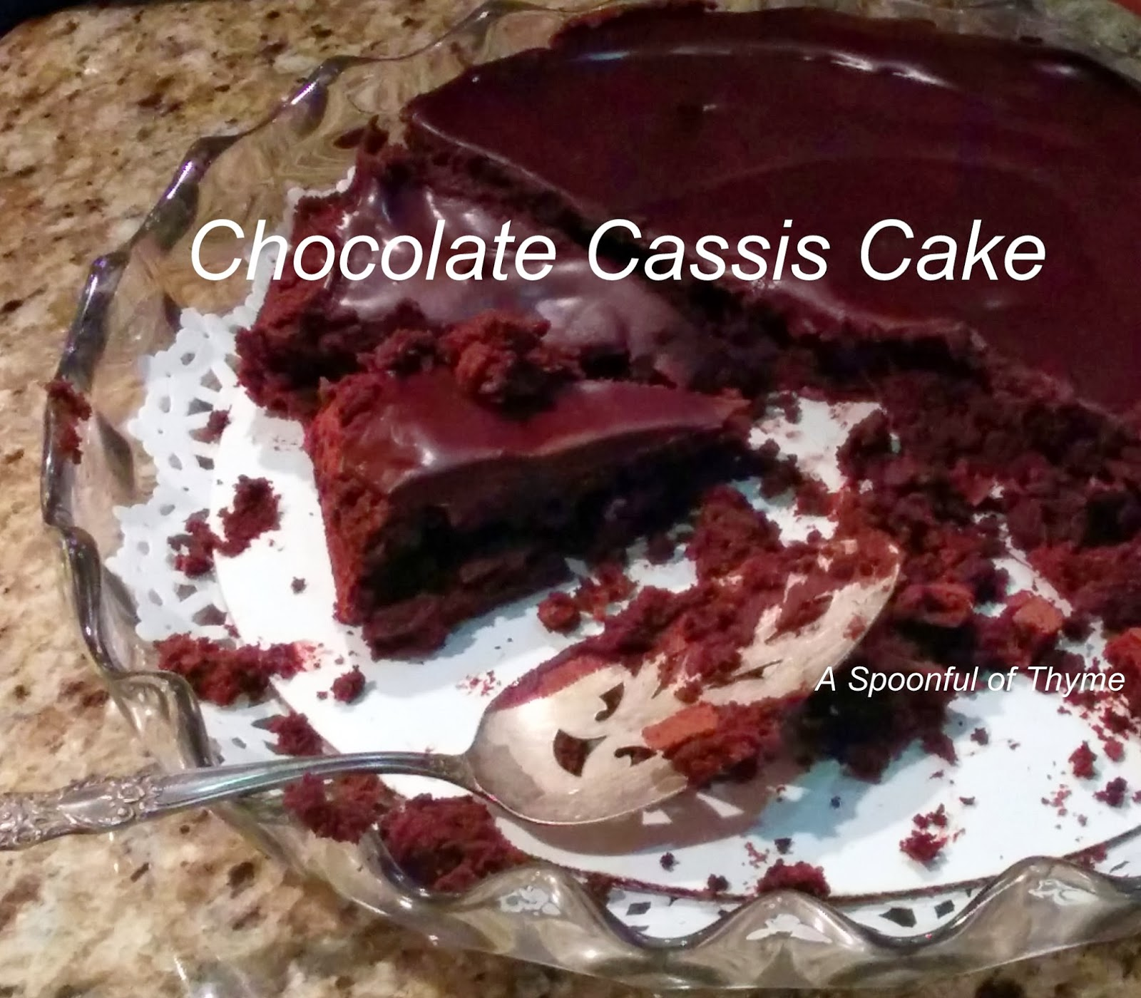 One Of The Gals Made This Delicious Chocolate Cassis Cake It Was So Pretty Much Heaven With Every Bite