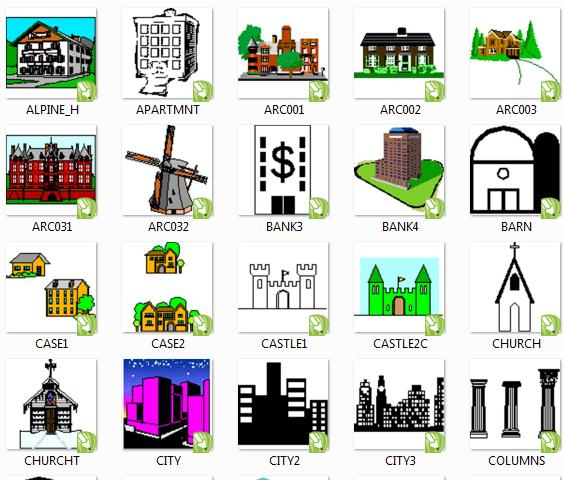 Icon/Simbol/Gambar Untuk Denah Undangan cdr