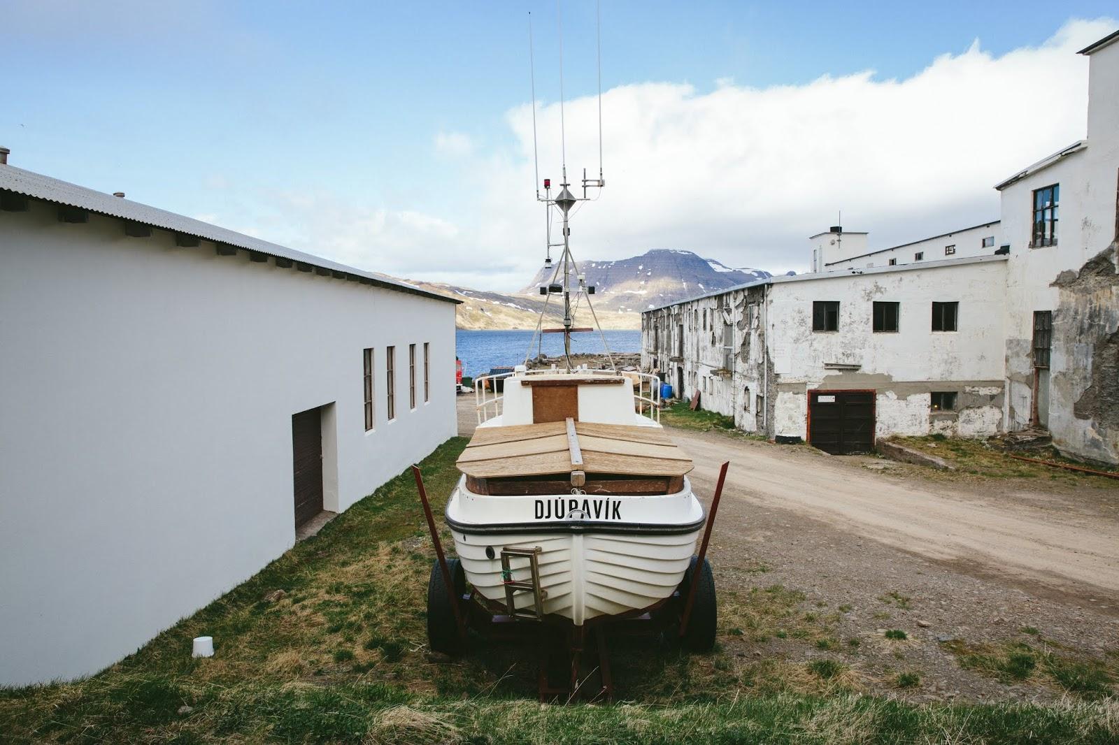 Djúpavík Iceland Boat