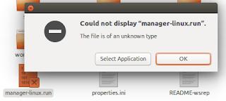 tidak bisa menjalankan manager-linux.run